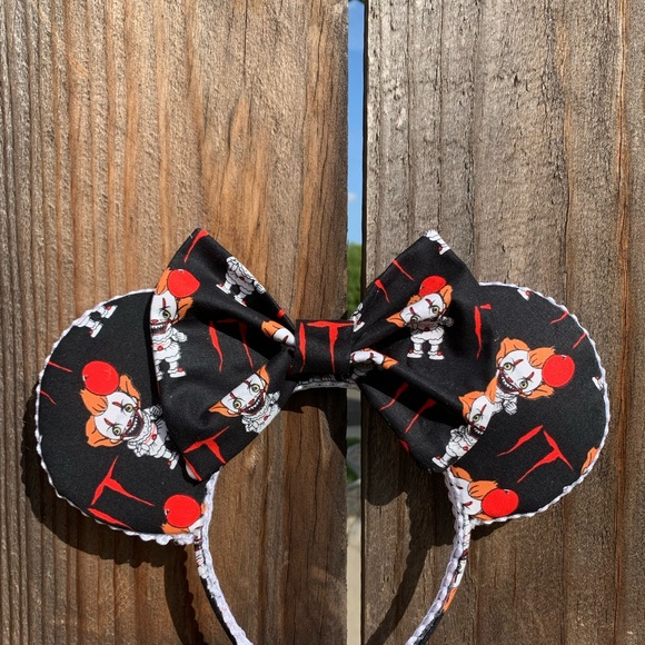 mayrafabuleux Accessories - IT Pennywise Minnie Ears, Halloween Minnie Ears
